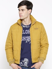 Fort Collins Mustard Yellow Padded Jacket with Detachable Hood