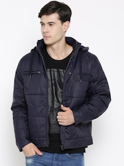Fort Collins Navy Padded Jacket with Detachable Hood