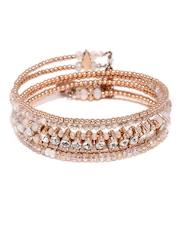 Accessorize Rose Gold-Toned Spiral Bracelet
