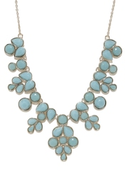 Accessorize Gold-Toned & Blue Necklace