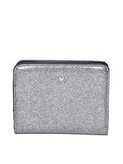 Accessorize Women Grey Glitter Wallet