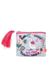 Accessorize Blue Embroidered Embellished Purse
