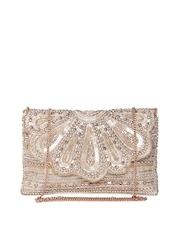 Accessorize Gold-Toned Embellished Sling Bag