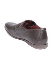 Woods Men Coffee Brown Leather Semiformal Shoes