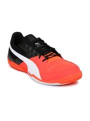 PUMA Men Neon Orange & Black Gavetto Sala Indoor Football Shoes