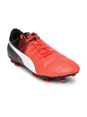 PUMA Men Neon Orange & Black evoPower 4.3 FG Printed Football Shoes