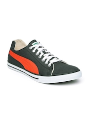 PUMA Men Charcoal Grey & Orange Hip Hop 5 IDP Sneakers