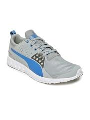 Puma Men Grey Velor Mesh Running Shoes