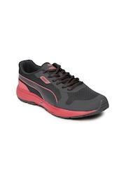 PUMA Women Grey & Coral Red Periscope Running Shoes