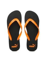 PUMA Men Orange & Black Flip-Flops