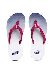 PUMA Women Pink & Blue Printed Flip-Flops