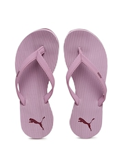 PUMA Women Lavender Ribbons IDP Striped Flip-Flops