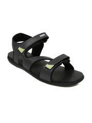 PUMA Men Grey & Black Elego IDP Colourblocked Sports Sandals