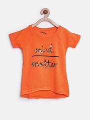 Gini & Jony Girls Orange Embellished Top