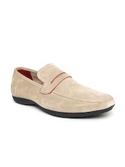 Numero Uno Men Beige Solid Loafers
