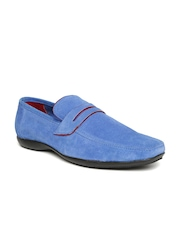 Numero Uno Men Blue Solid Loafers