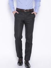Black Coffee Men Charcoal Grey Formal trousers