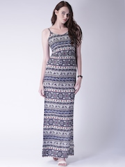 Moda Rapido Women Navy Printed Maxi Dress