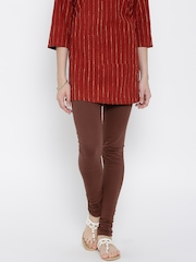Aurelia Brown Churidar Leggings