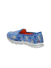 Nell Women Blue Printed Casual Shoes
