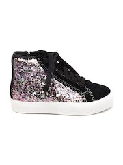 Clarks Girls Multicolour Textured High-Top Sneakers