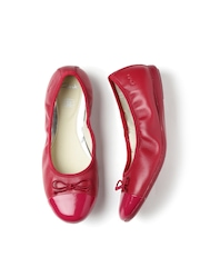 Clarks Girls Magenta Dance Puff Inf Leather Ballerinas