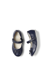 Clarks Girls Navy DanceSpin Inf Leather Mary Janes