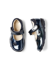Clarks Girls Navy Light-Up Patent Leather Mary Janes