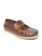 Red Tape Men Brown Leather Tassel Loafers