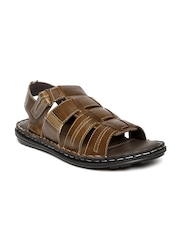 Red Tape Men Coffee Brown Sandals