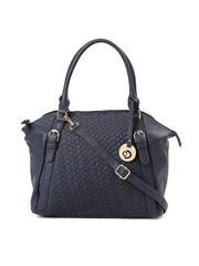 Caprese Navy Textured Handbag