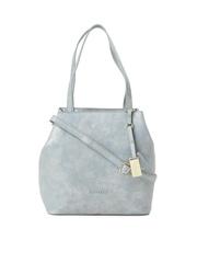 Caprese Grey Textured Bernice Shoulder Bag