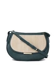 Caprese Green Jute Sling Bag