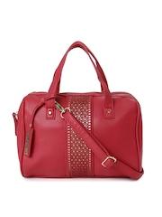 Caprese Red Cut-Work Handbag