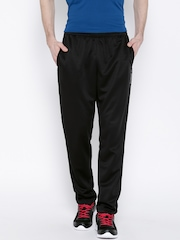 Reebok Black DIST.CORPLY Polyester Training Track Pants