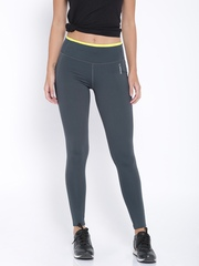 Reebok Grey Fitted Training Tights