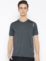 Reebok Grey DIST.CRE Polyester Training T-shirt