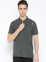 Reebok Grey Melange DIST. CORE Training Polo T-shirt
