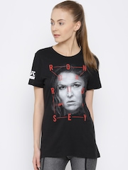 Reebok Black Fighter Ronda Rousey Print Martial Arts T-shirt