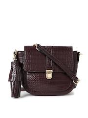 Accessorize Burgundy Textured Sling Bag