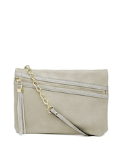 Accessorize Grey Oversized Textured Clutch