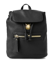 Accessorize Black Textured Backpack