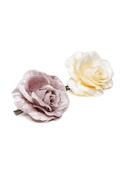 Accessorize Set of 2 Floral Alligator Hair Clips