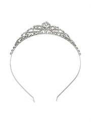 Accessorize Silver-Toned Embellished Tiara Hairband
