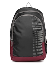 Aristocrat Unisex Black & Maroon Backpack