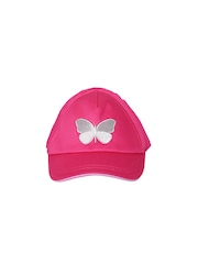 mothercare Girls Pink Embroidered Cap