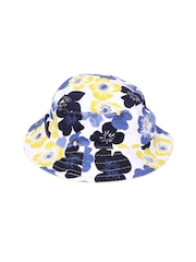 mothercare Girls White Floral Print Bucket Hat