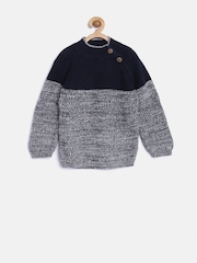 mothercare Boys Navy & Off-White Patterned Sweater