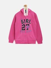 612 League Girls Pink Appliqué Hooded Sweatshirt