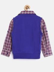 612 league Boys Grey & Blue Clothing Set